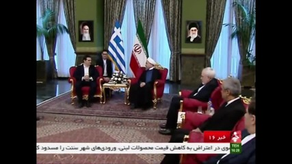 Iran: Rouhani meets Greek PM Tsipras to discuss bilateral cooperation