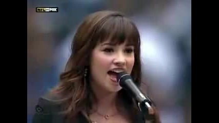Това се казва велик глас !! Деми Ловато (16) пее National Anthem * live *