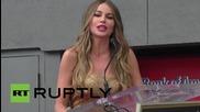 София Вергара получи звезда на Алеята на славата в Холивуд