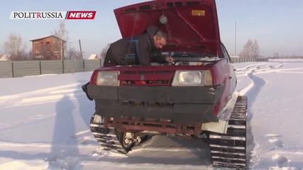 Руски танк самоделка Т-21099
