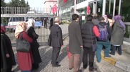 Turkey: Zaman employees queue for security checks at newspaper's Istanbul HQ