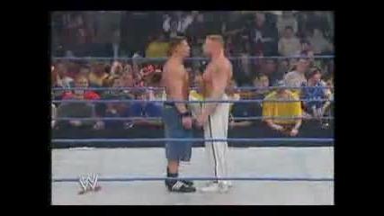 Brock Lesnar beats up John Cena