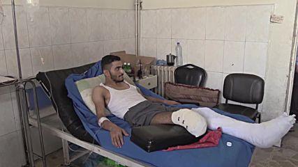 Syria: Civilian casualties treated at Aleppo's Al-Razi Hospital amid fighting