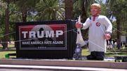 USA: Klu Klux Klan Trump effigy erected in Phoenix park