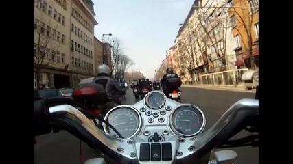 Откриване мото сезон 2012 София - шествие Александър Невски - Бояна 1 част