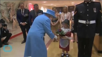 Soldier Hits Young Girl in the Face While Saluting the Queen