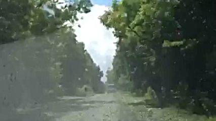 Пътят след градушката в Борован