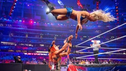 Charlotte Flair vs. Sasha Banks vs. Becky Lynch - WWE Women's Title Triple Threat Match: WrestleMania 32 (Full Match - W