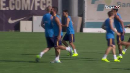 Барселона втора тренировка 14.07.2015