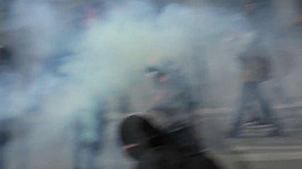 France: Porsche burns as violent clashes erupt at labour reforms demo in Nantes