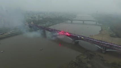 Poland: Drone captures nationalist crowd celebrating Polish independence