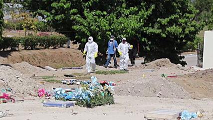 El Salvador: San Salvador cemetery prepares new graves for COVID victims