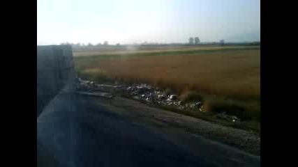 Голяма Катастрофа Йоаким Груево - Пловдив обърнат камион