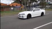 Nissan Skyline Gtr R34 Hd Exhaust Aceleration