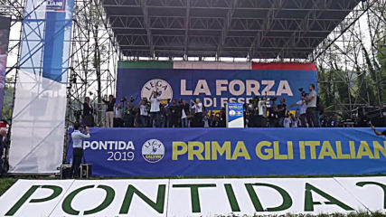 Italy: 'We are slaves to nobody' - Salvini addresses supporters at Lega rally