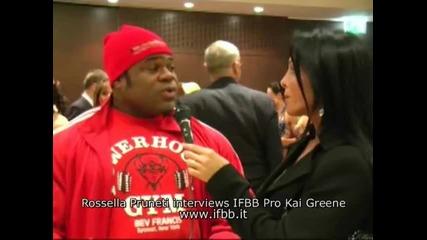 (превод) Kai Greene In Italy - Interview part 2
