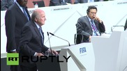 Switzerland: Sepp Blatter speaks after FIFA presidential election victory