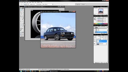 Как да сменим джантите и да затъмним прозорците на кола с Photoshop 7.0