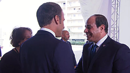France: Sisi greeted by Macron upon arrival at G7 in Biarritz