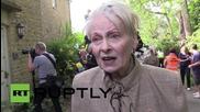 UK: Vivienne Westwood drives tank to Cameron's house, declares war on fracking