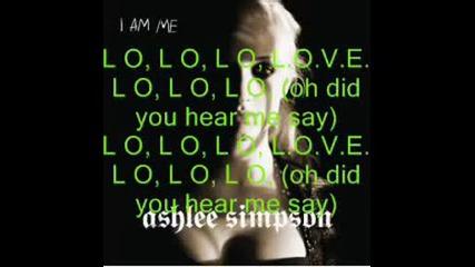 Ashlee Simpson - L.o.v.e(with Lyrics).avi