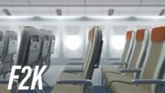 Мила, смалих седалките на самолета