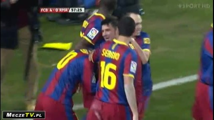 Barcelona 4 - 0 Real Madrid David Villa
