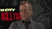 Легендата Брус Уилис дава интервю за филма си Град на Греха 2: Жена, за която да убиеш (2014)