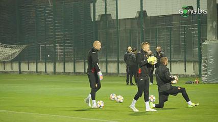 Последна тренировка за националния отбор преди мача с Парагвай