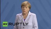 Germany: Merkel talks refugee crisis with Danish PM
