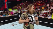Daniel Bryan addresses his injury Raw, May 12, 2014