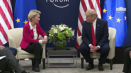 Switzerland: Trump holds talks with 'tough negotiator' von der Leyen at Davos