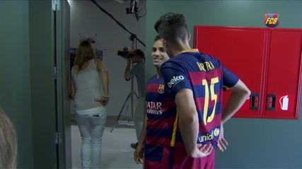 Фотосесията на играчите на Fc Barcelona
