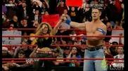 Trish Stratus се Завръща в Raw в Отбор С John Cena [high Quality]