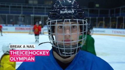 Break a Nail: When she's on the ice, it's game on