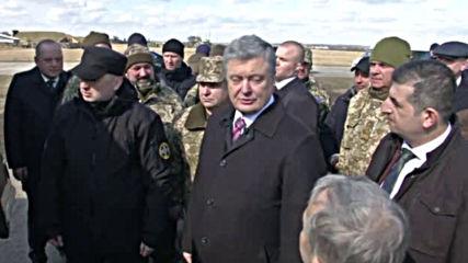 Украинският президент съблюдава теста на нови бойни дронове
