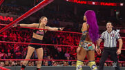 Sasha Banks & Bayley vs. Ronda Rousey & Natalya: Raw, Jan. 21, 2019 (Full Match)