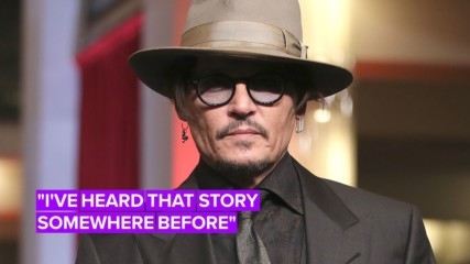 Johnny Depp jokes about relating to 'broken alcoholic' character
