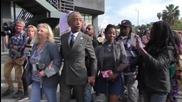 Активисти на протест преди Оскарите