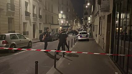 France: Police cordon off Paris street after car crashes into cafe, leaves one dead
