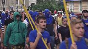 Ukraine: Azov Battalion's civil wing protests against Donbass elections
