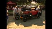 Ретро коли участваха в автомобилно рали в Куба