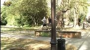Яко каране на ролери / блейдове в морската градина на Варна