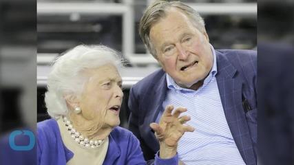 Ex-President George H.W. Bush Leaves Hospital