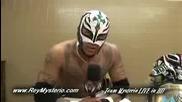 Интервю с Rey Mysterio в Жапония