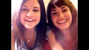 Demi and Selena Blooper