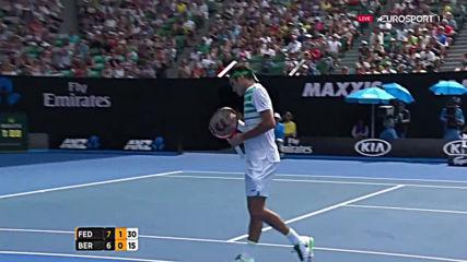 Federer vs Berdych Australian Open 2016 Highlight