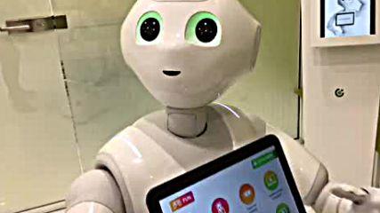 Робот говори на български език.
