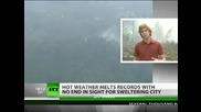 Smokin Hot Moscow chokes in smog as heat melts records