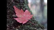 Richard Clayderman - Hello (piano version)